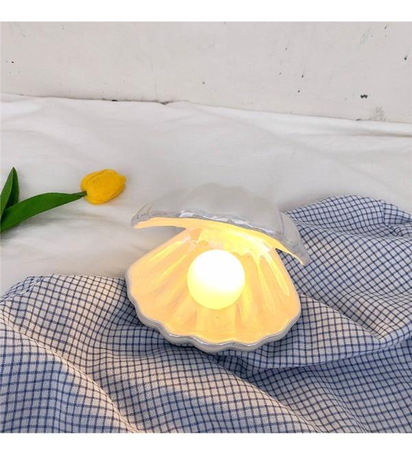 Pearl in Shell Light - mini LED Lamp Portable Night Light enlarge