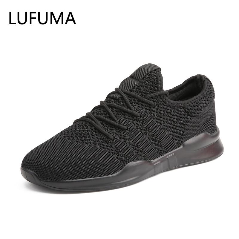 2019 Summer New Flying woven running shoes men's casual sports shoes Men Footwear Breathable Mesh Light Walking sneaker