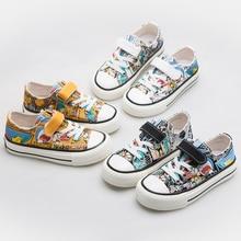 Baskets en toile pour enfants   Chaussures de sport, pour filles et garçons, nouvelle collection printemps 2020, baskets de mode, design de dessin animé, chaussures de sport