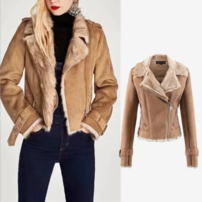 New product women clothes 2019 winter Thick and warm Imitate deerskin A fur jacket womens fashion jacket Pure color ladies coats enlarge