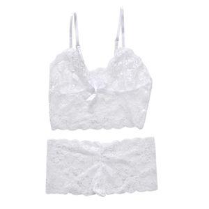 Women's Lace Strappy Underwear Bra & Panty Set Sexy Knickers Lingerie Bodysuit X3UE