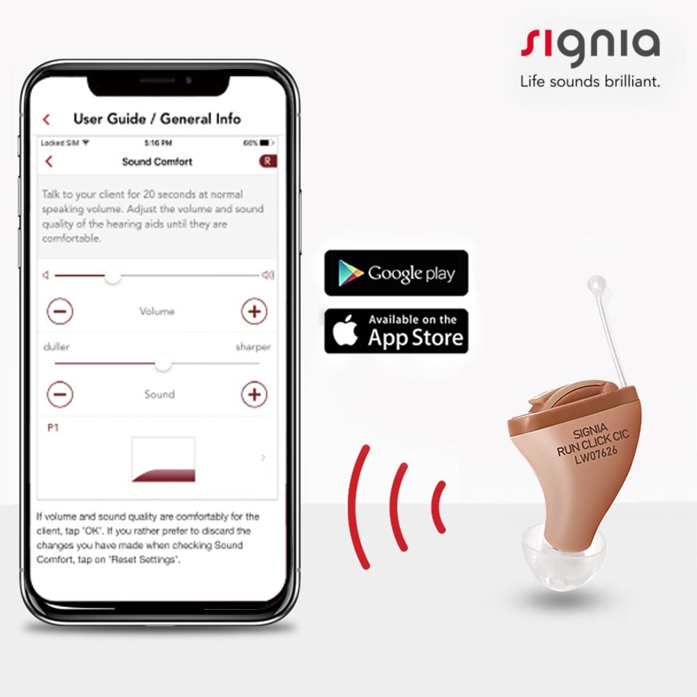 سيمنز Signia 8 قنوات رقمية غير مرئية CIC مساعدات للسمع ، الهاتف المحمول APP عن بعد ضبط ITC السمع مكبر صوت