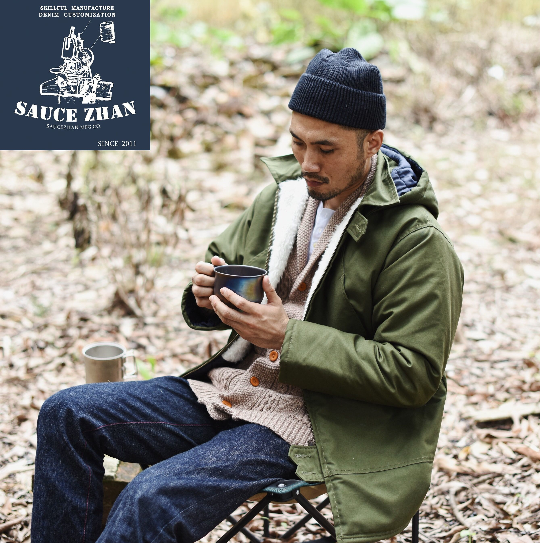 SauceZhan blouson dhiver homme, Long, vêtement canadien, en Parka pour hommes, combinaison, manteau dhiver