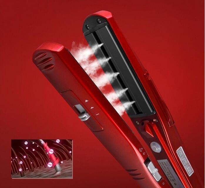 Vapor alisador de cabelo planos de ferro Elétrico steampod cerâmica straightner Cabelo styling tools kemei alisamento placa wafers