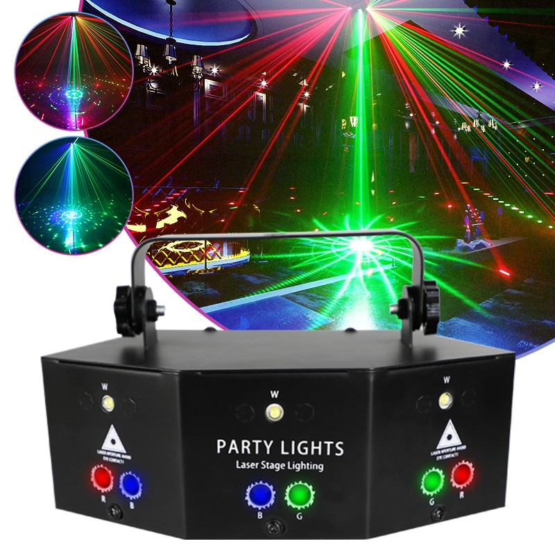 Потолочный светодиодный клубный проектор, дискотека, дистанционное управление, Rgb прожектор для музыки для вечеринок, свадеб и Рождества