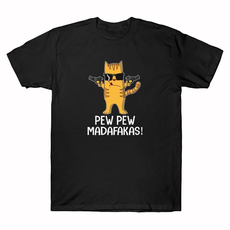 Camisetas con estampado de Pew Madafakas para mujer, blusas informales con estampado...