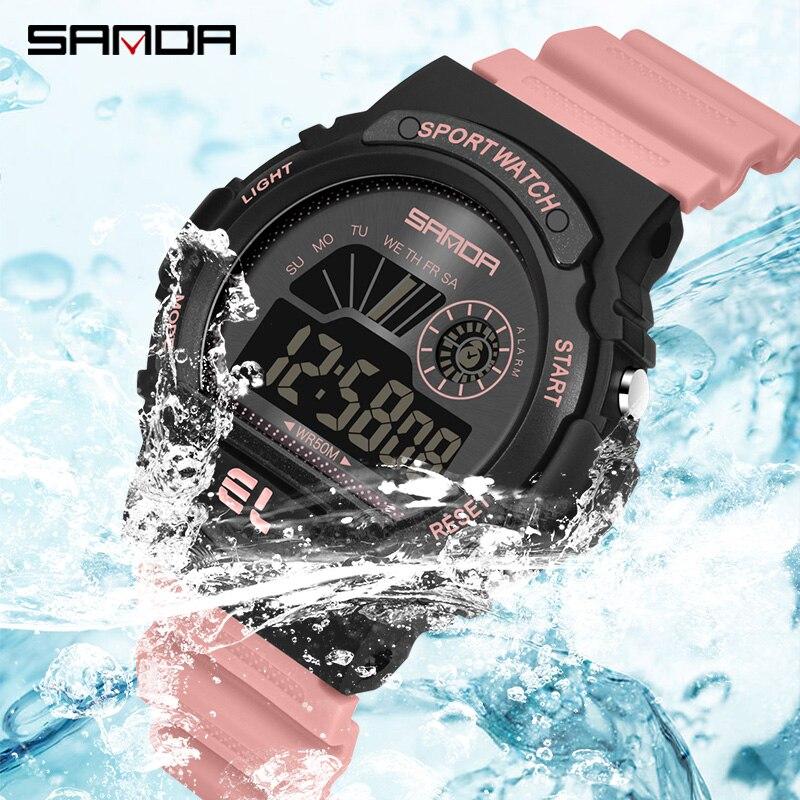 Women's Watches Fashion LED Luminous Waterproof Ladies Digital Electronic Watch Men Woman Casual Sport Watch gift zegarek damski enlarge