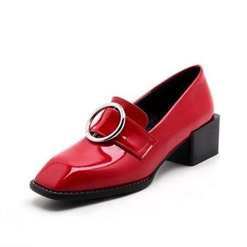 Обувь с круглым носком и квадратным носком размера плюс; Женская обувь на высоком каблуке; Женские туфли-лодочки