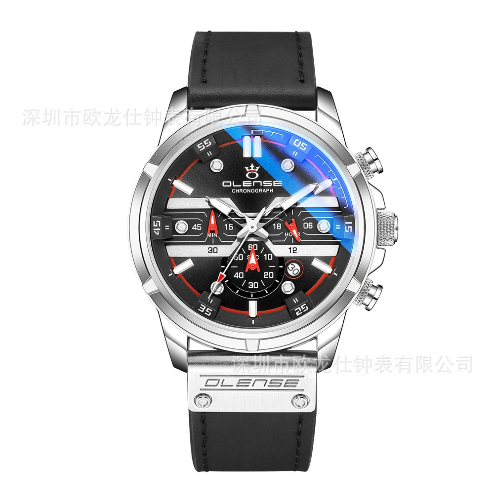 2021 cross-border selling sports man watches strap watch luminous quartz fashion than mechanical watches enlarge