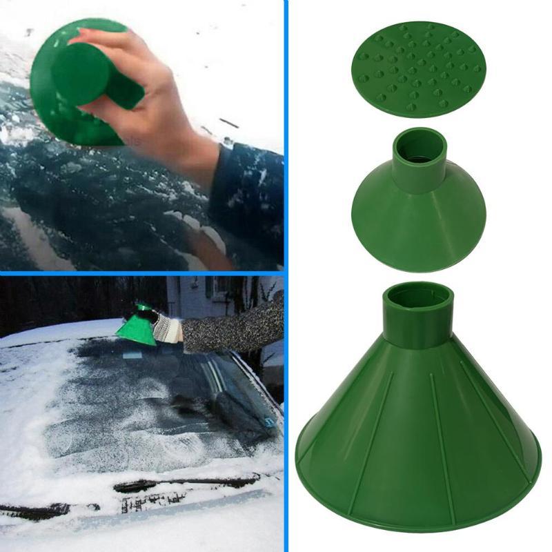 Лидер продаж Автомобильный скребок для льда умелые производство 3 шт./компл. Magic окна автомобиля лобового стекла скребок для льда в форме конуса удаление снега воронка