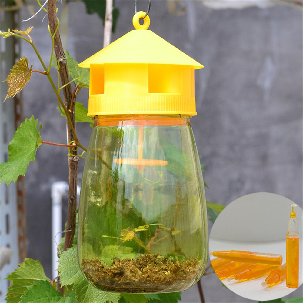 7.87*3.74 inch Fruit Fly Trap Reusable Fruit Fly Catcher Trap Bottle Bait Lure Insect garden courtyard vegetables Flies PestTool