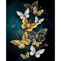 Gatyztoire     cadre avec numeros 60x75cm  peinture de papillon par numeros  paysage sur toile  Kits peints a la main  decoration de maison  Art