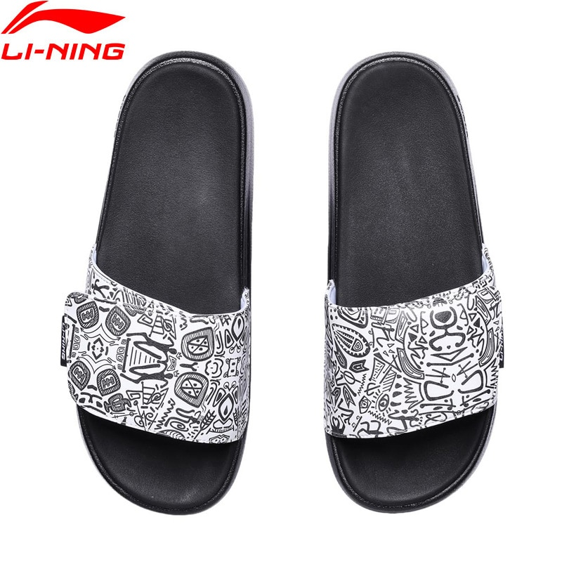 (Clearance)Li-Ning Men LN SLIPPER Stylish Slippers Breathable LiNing Sports Shoes  Sandals Leisure Outdoor Beach Sandals AGAR009