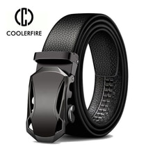 Men Belts Metal Automatic Buckle Brand High Quality Leather Belts for Men Famous Brand Luxury Work B
