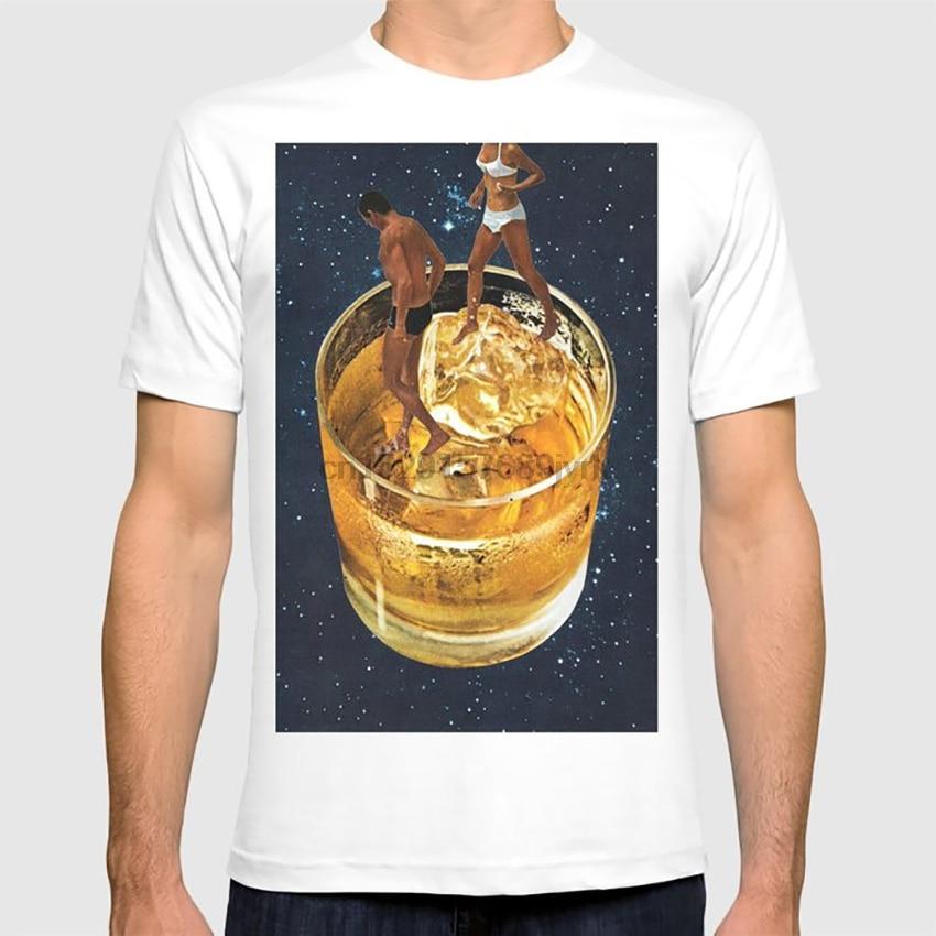 Raum Datum T shirt papier retro vintage alchohol raum collage whiskey trinken cocktail photomontage