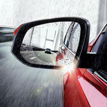 1 Pair Auto Car Anti Water Mist Film Anti Fog Coating Rainproof Hydrophobic Rearview Mirror Protective Film