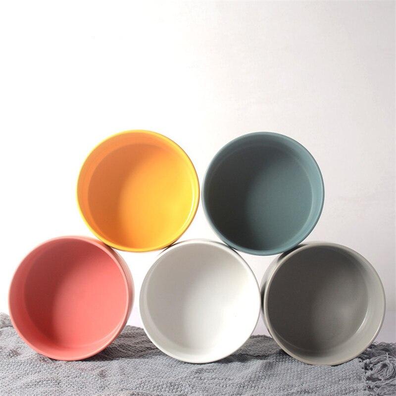 Bol de cerámica de mármol para mascotas apto para mascotas para beber agua y comer comida, varios colores, verde oscuro, rosa, gris y blanco