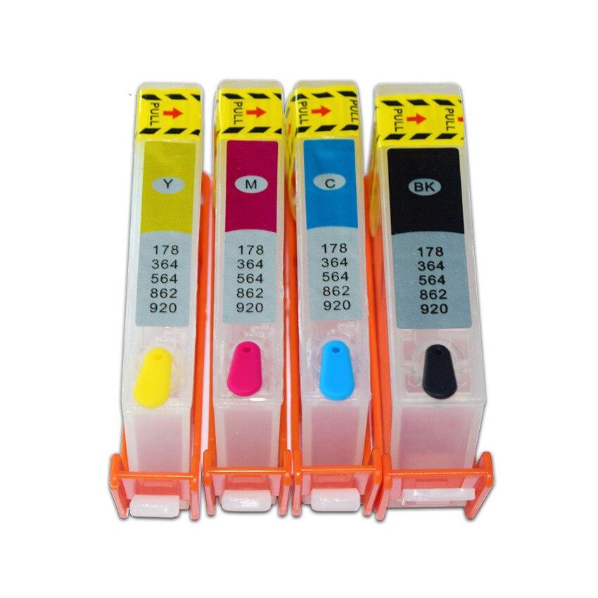 NOUS 4 Couleur HP564 Recharge Cartouche Dencre avec Puce ARC pour HP B210a 5510 5515 6510 B109a 3070A B109a B109n B11 Imprimante
