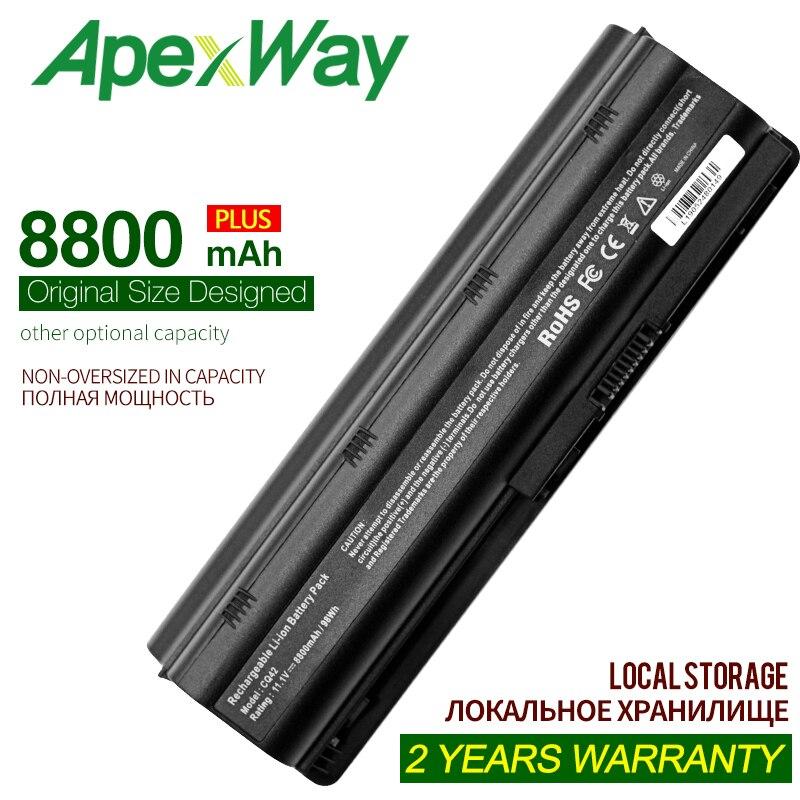 ApexWay 12 células bateria do portátil para HP MU06 MU09 593553-001 Pavilhão dm4t dv3 dv4 dv5 dv6 g4 CQ42 CQ56 CQ57 CQ62 HSTNN-CB0W