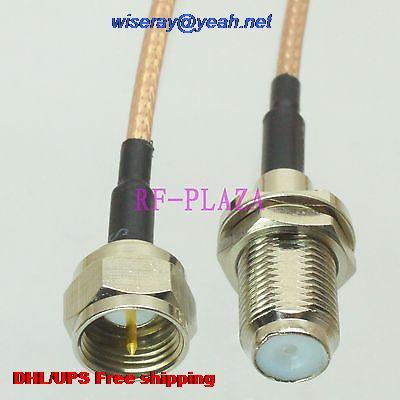 DHL/EMS 100 piezas Cable 6 pulgadas F TV hembra A a F TV hombre RG316 RF coleta saltadorr cable con un año warranty-A2