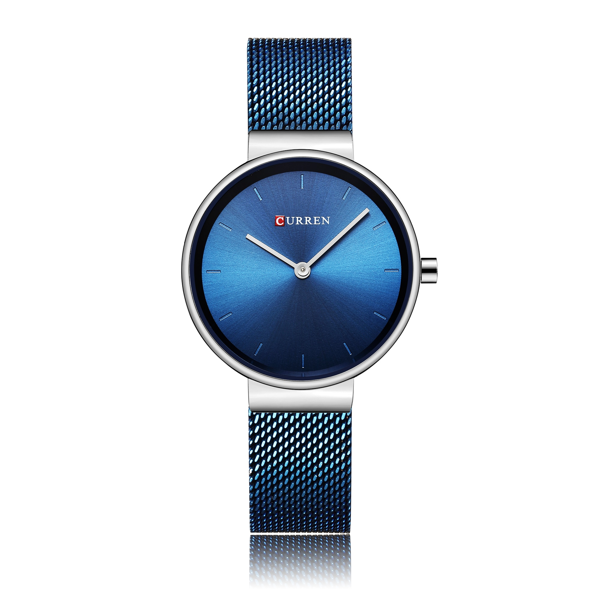 CURREN Women Watch Simplicity Modern Quartz Wrist Watch Blue Stainless Steel Waterproof Elegant Reloj Mujer Valentine's Day Gift enlarge