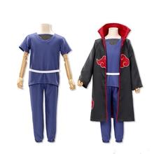 Brdwn Naruto unisexe Akatsuki Uchiha Itachi Hidan Pein Sasori Deidara chine autorisation officielle nuage rouge Cosplay manteau costume