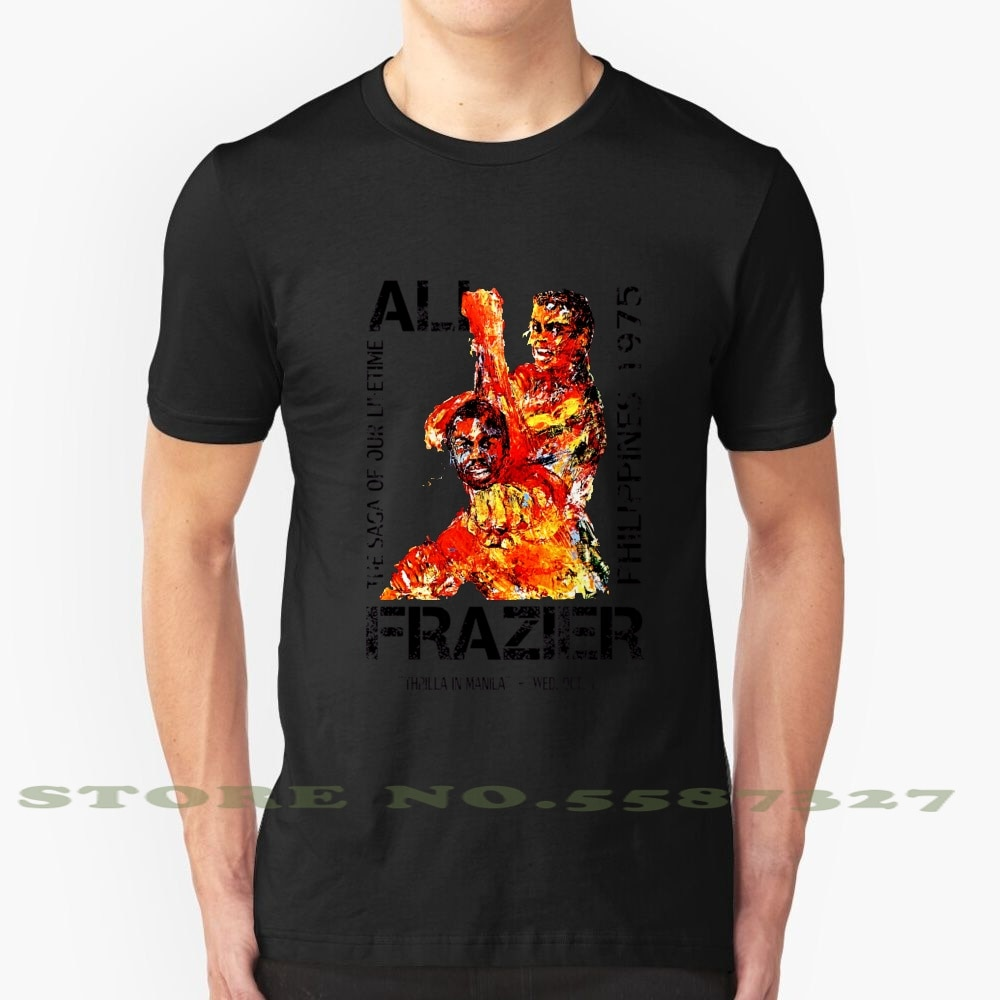 Ali Vs Frazier cartel-Thrilla en Manila personalizado gráfico divertido gran oferta camiseta Muhammad Ali Joe Frazier Thrilla Thriller