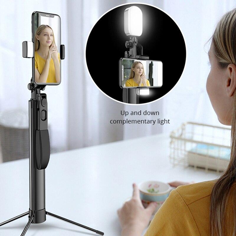 Universal Bluetooth Desktop & Handle Stabilizer tripod folding platform for Mobile Phone Camera With Cell Phone Holder Clip