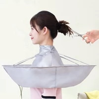 1pc diy hair cutting cloak wrap hair shave apron hair barber gown cover cutting cloak umbrella cape household cleaning protecter