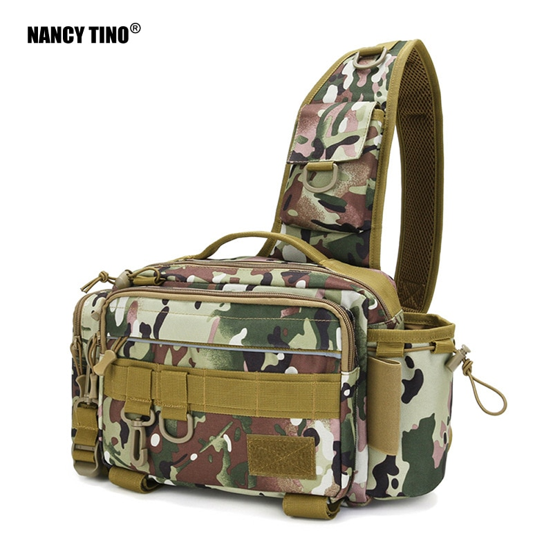 NANCY TINO Outdoor Fishing Bag Single Shoulder Crossbody Waist Pack Fish Lures Bag Multifunctional Tackle Bags Utility Storage