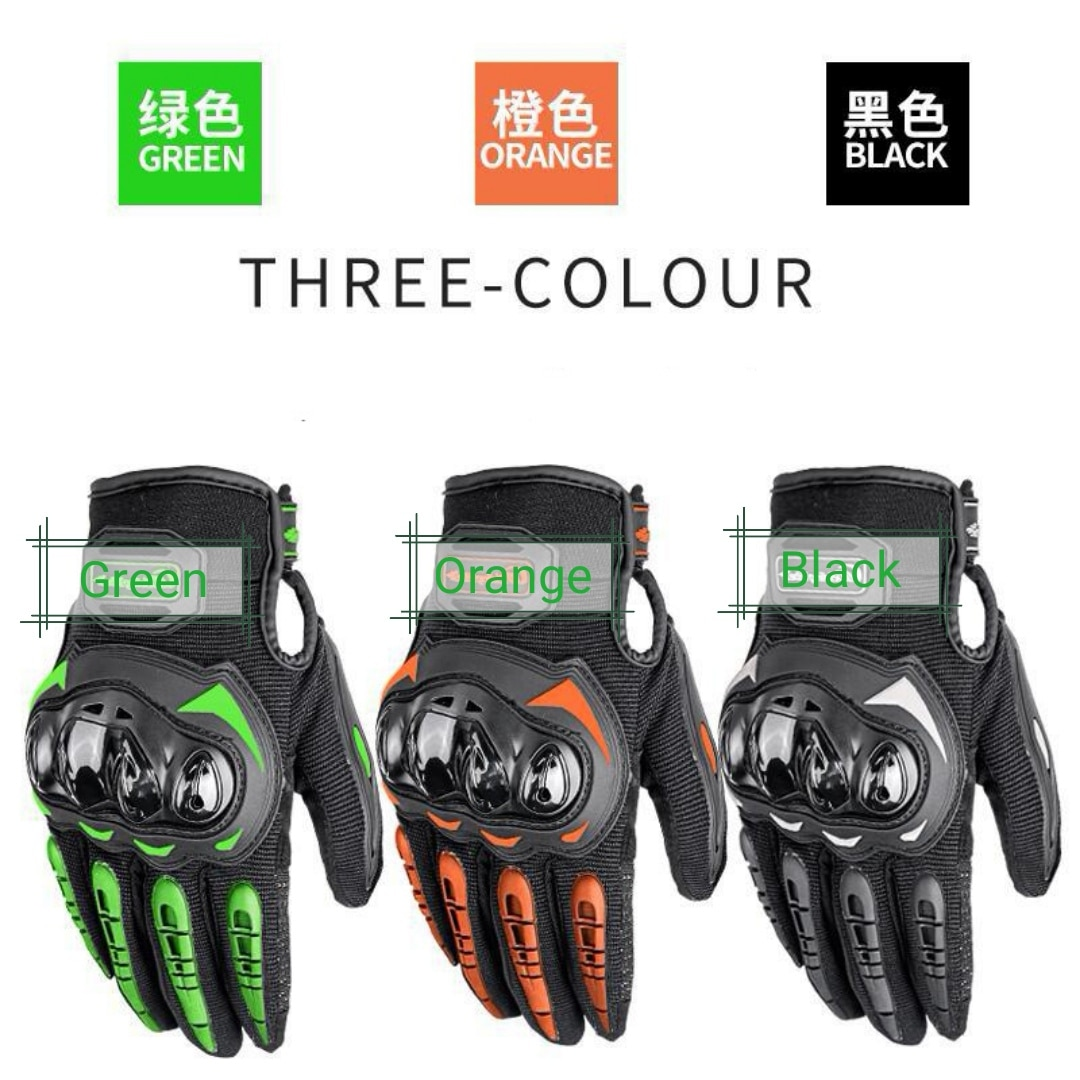 Factory Sale Outdoor Racing Gloves for Motorcycle Bicycle ATV Dirtbike Pit-Bike MotoCross Rider Black Green Red Screen-Touch
