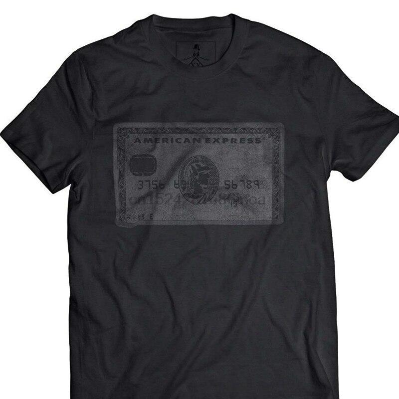 Camiseta gráfica nueva camiseta para hombre tarjeta negra Amex 2018 gran oferta ropa de calle de moda