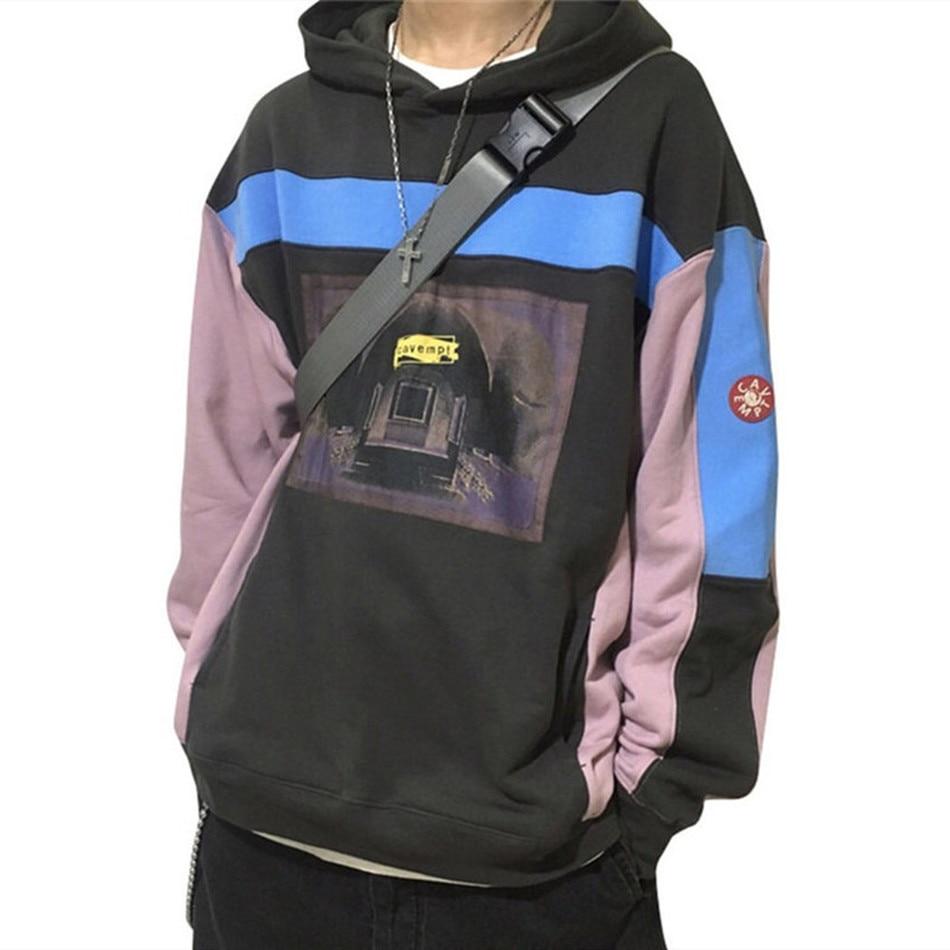 2020fw cavempt ec azul costela pesado hoodie feminino masculino feminino 11 alta qualidade cavv empt pulôver roupas