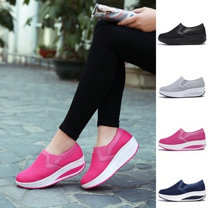 Women's Shake Shoes Breathable Thick Bottom Heighten Slip on Platform Tenis for Woman Sock Sneakers Shoes Zapatillas Mujer