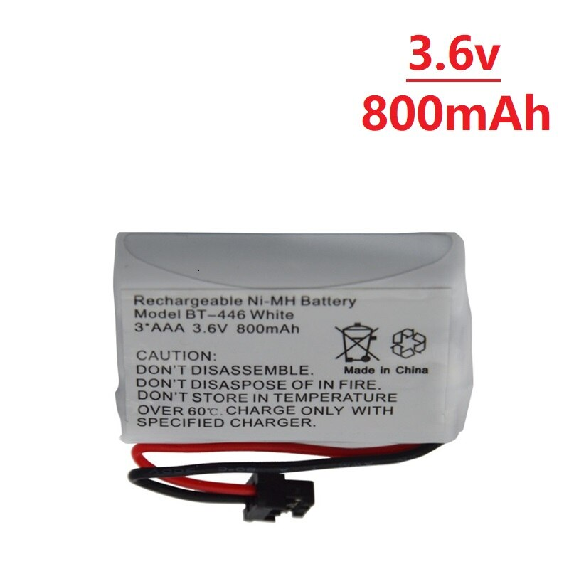 3,6 v 800mAh Rechargebable Ni-Mh Cordless Telefon Batterie Modell BT-446 BT446 Er-P512 3 * AAA 3,6 v 800mAh 1 stücke zu 10 stücke