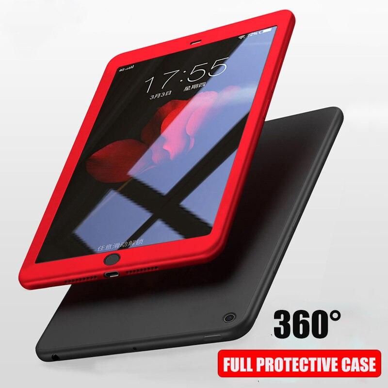 Funda para iPad 2 3 4 2 3 MINI Pro 10,5 cristal templado con silicona 360 funda de cuerpo entero para iPad 2017