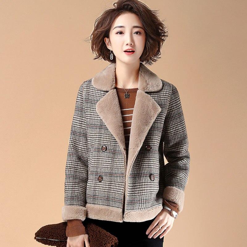2019 moda mujer abrigo corto de invierno cálido cuello en V chaqueta femenina tapas de las mujeres chaquetas de las señoras abajo abrigos básicos Mujer
