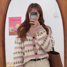 Cardigan Sweater Wearing Sweater Women's Spring And Autumn 2021 New Thin Sweet Girlfriends Striped L