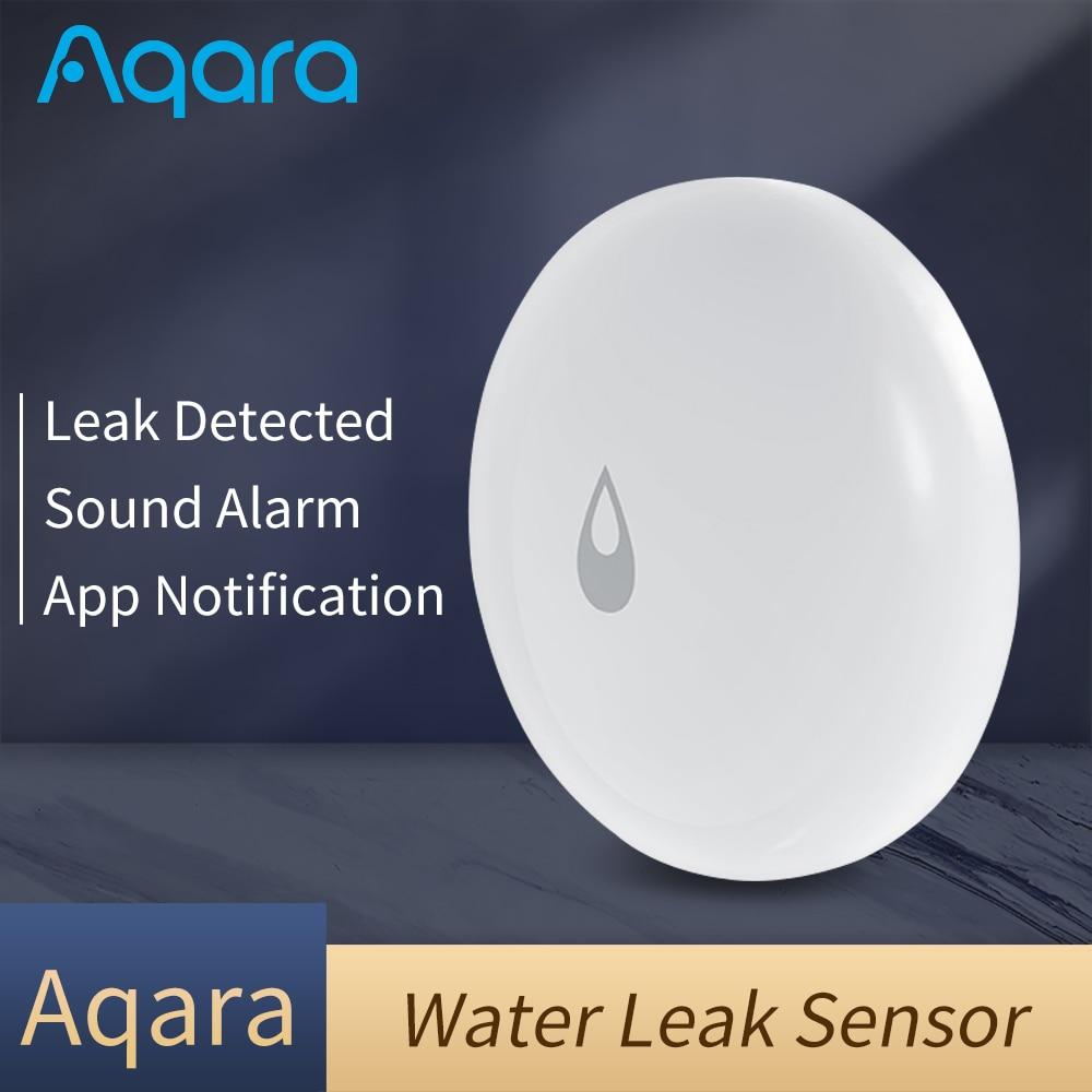 Sensor de agua Aqara mijia para hogar, Sensor de inundación y fugas de agua con alarma remota para seguridad
