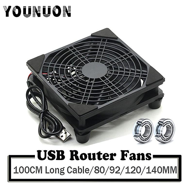 USB-роутер с вентилятором, 80/92/120/140 мм, 5 В