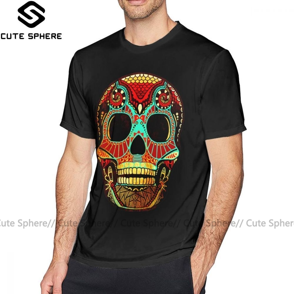 Camiseta de tatuaje, camiseta Grunge Skull No2, camiseta impresa impresionante, camiseta de manga corta para hombre, camiseta Casual de algodón de gran tamaño