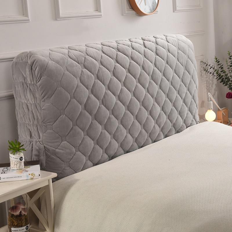 ADOREHOUSE-غطاء سرير مبطن ، مخملي سميك ، واقي خلفي للسرير ، بلون عادي ، ناعم