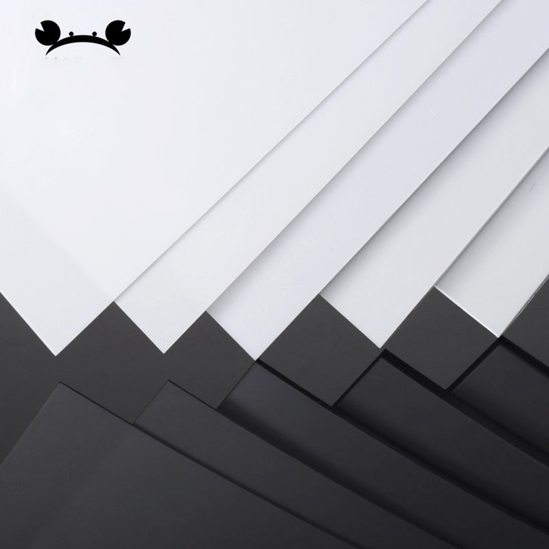 Láminas de plástico ABS de estireno, 5 uds., blanco, 200mm x 250mm, Material de construcción, modelo de 0,3-5mm de grosor