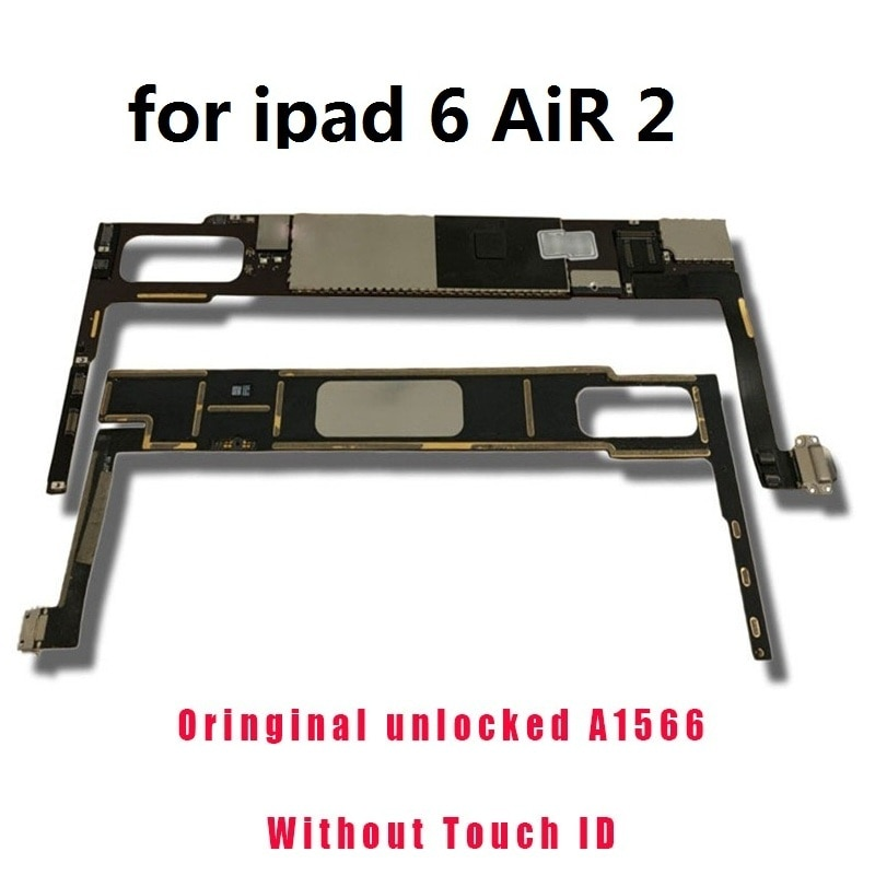 A1566 Wifi version mainboard Clean iCloud For ipad 6 Air 2 Motherboard 16GB 32GB 64GB 128GB Unlocked Logic board with full chips enlarge