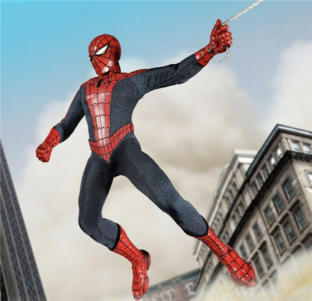 Mezco Marvel Avengers Spiderman hogar que viene Spider Man uno 12 juego de postura colectiva figura modelo juguetes 16cm