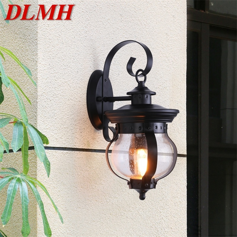 DLMH Outdoor Retro Wall Light Classical Sconces Lamp Waterproof IP65 LED For Home Porch Villa