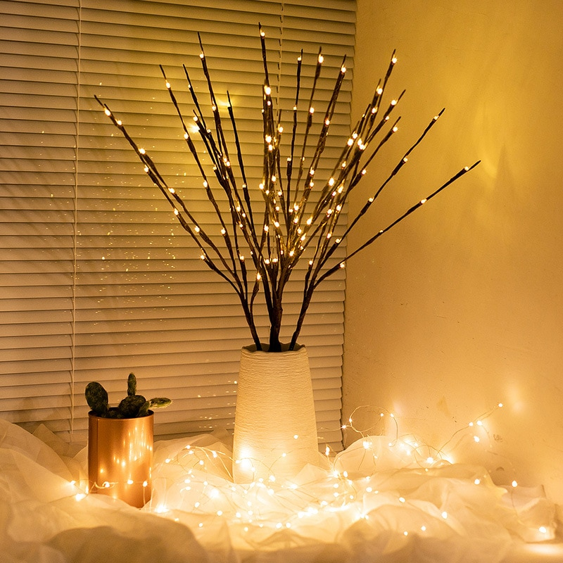LED Love Branch Lamp Battery Powered Willow Twig Lighted Decorative1pcs Wedding Home  Decorations