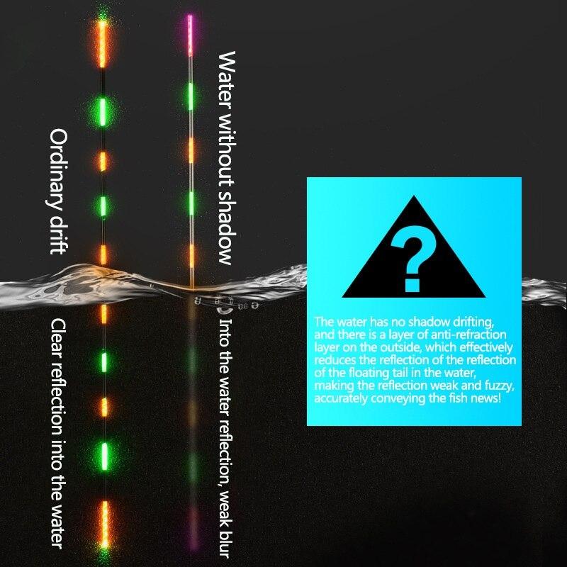 Flotteur de pêche intelligent morsure alarme poisson morsure appât changement de couleur de lumière LED automatique nuit changement électronique bouée grève