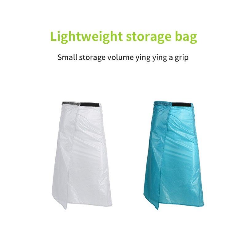Revestimiento de silicona equipo de lluvia respetuoso con el medio ambiente larga falda escocesa ajustable práctica para Camping senderismo falda impermeable