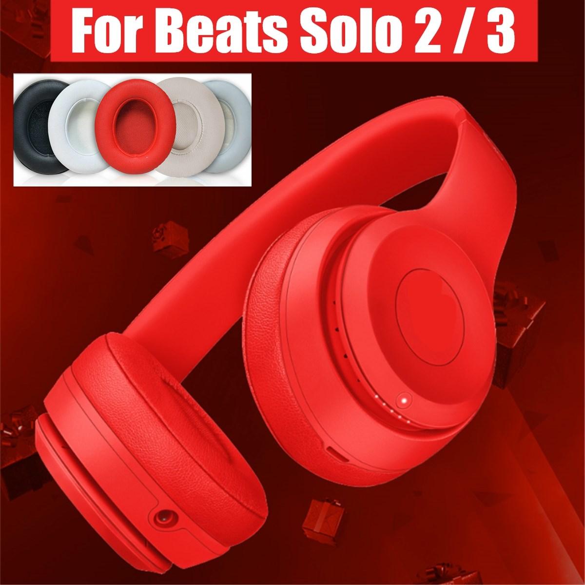 1 par de almohadillas LEORY para auriculares Solo 2 Beats para Solo3 con cable/almohadillas de repuesto inalámbricas almohadillas suaves para auriculares